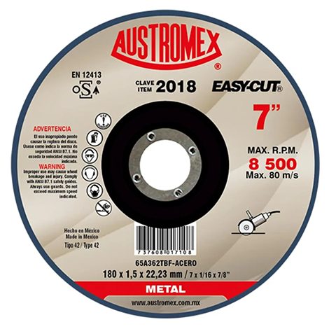 "Disco de corte 7"" metal easy cut"