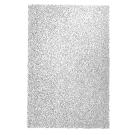 "Almohadilla de fibra 9"" x 6"" blanca/no abrasiva."