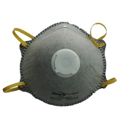 Mascarilla N95 con válvula de exhalación y carbón activado