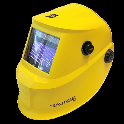 Careta electrónica SAVAGE Amarilla