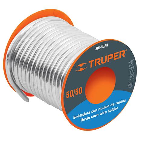 Soldadura estaño 3mm c/fundente para tubería hidráulica