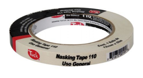 "CINTA MASKING TAPE 1/2"" X 50 MTS (12MM)"