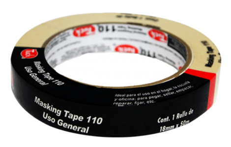 "CINTA MASKING TAPE 3/4"" X 50 MTS (18MM)"